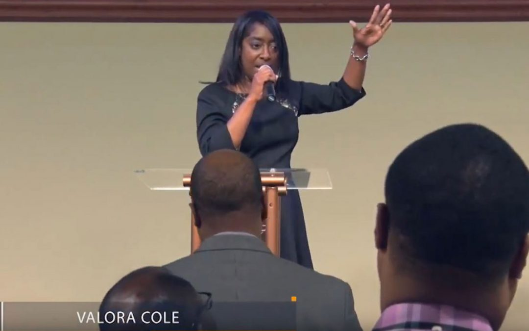 Valora Shaw-Cole in Houston, Texas at Faith City Church with Pastor Phinehas Kinuthia